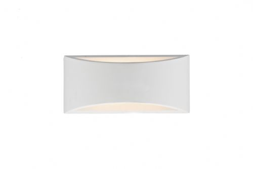 Hove 2-light White Plaster Large Double Insulated Wall Light (Class 2 Double Insulated) BXHOV372-17